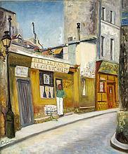 Lucien Adrion (1889-1953), frz. Maler, Pariser Strassenszene, Öl/Lwd., u. l