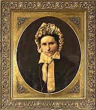 Max Usadel (ca.1880-1950), Düsseldorfer Maler, Portrait einer strengen Frau