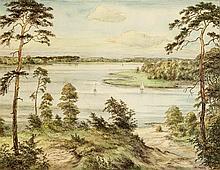 Albert Hennig (1896-?), Berliner Landschaftsmaler, Blick über den Wannsee a