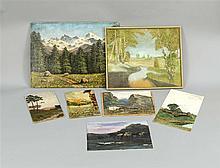 Konvolut von 20 Gemälden und Zeichnungen der 1930er und 1940er Jahre, versc