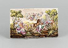 Porzellanplatte, 20. Jh., in der Art von Capodimonte, vielfigurige antikisi