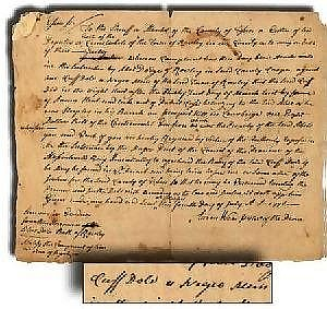 [ American Historical Item ] Negro Man Cuff Dole Has a Warrant Taken on him July 4, 1776