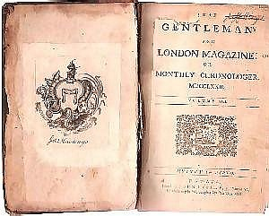 [ Americana ] Book, THE GENTLEMAN'S AND LONDON MAGAZINE, 824 pp., octavo, 1772, Dublin, Ireland. Science, history, politics, music and literature