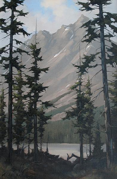 Karl E. Wood Canadian [1944-1990] PEYTO LAKE oil