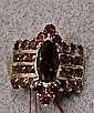 14k Gold Red Tourmaline Ring