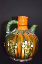 Chinese Sancai Glaze Porcelain Ewer