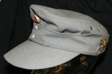 Vintage German Army enlisted bergmutze M43 Cap with Emblems, EC