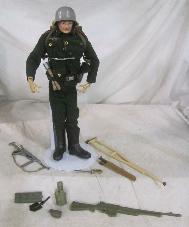 Original Vintage 1960s GI Joe German Army Doll with Accessories, EC