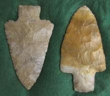 2 Large Adena blades, NE Ohio Collection
