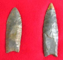 2 Large paleo fluted points, NE Ohio Collection