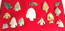 Lot of 14 assorted Indiana farm found flints, NE Ohio Collection
