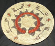Reservation basket, 14 ½ x 2 ½, decorative star pattern