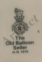 Vintage Royal Doulton The Old Balloon Seller HR 1315, EC