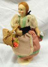 Original Vintage Florence Epos Fabric Doll, 7 1/4