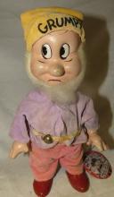 Antique Knickerbocker Happy Dwarf Doll Snow White 7 Dwarfs Composition 1930s Grumpy, 9