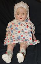 Vintage 1930s Cloth and Composition Girl Doll 21