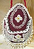 Ca. 1880 Antique Victorian Beadwork Pocket Watch Holder, 7