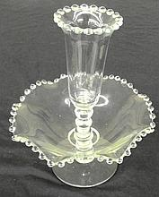 Epergne Set-2 Pcs in the Candlewick-Clear (stem #3400) pattern by Imperial Glass, 11