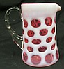 Fenton Cranberry Coin Dot Creamer 4