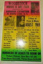 Woodstock Concert Poster, 14 x 22, EC