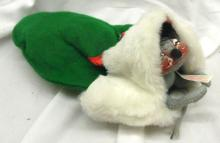 Vintage 1971 Annalee Christmas Mouse in Winter Mitten Annalee Doll Mobilitee 11