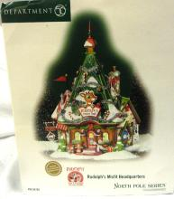 Department 56 North Pole- Rudolph's Misfit Headquarters with Box, EC