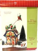 Dept 56 North Pole Series Santa's Reindeer Rides, MIB