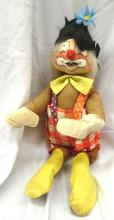 Vintage Annalee Mobilitee Doll Circus Clown Red and White, 22