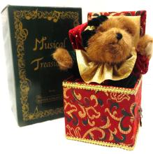 2002 Boyds Bears Musical Treasures - Jack B Twinkletune - moves & plays w/ box, EC