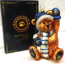 Boyd's bears Teddy bear Klaus Von Fuzzner Chrismas ornament with Box, EC