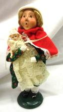 1998 byer's choice caroler with dolls, EC