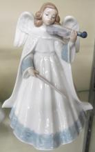 Lladro Porcelain Angel Violin Angelic Melody, 7 1/2