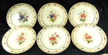 Eleven Antique Crown Derby Luncheon Plate Harrow Floral Pattern, 8 3/4