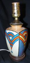 Lustreware Art Deco Lamp, 10