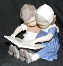 B&G Figurine # 1567, Reading Children, Copenhagen Porcelain, Denmark, 4
