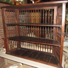 Vintage Three Tier Spindle Shelving Unit, 45