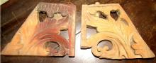 Two Antique Carved Wooden Pieces, 10 x 7, EC