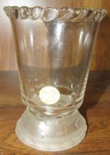 Lion Crystal Frosted Base Spooner, Gillinder & Sons, 1877, 5 1/2