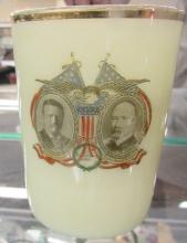 1904 Teddy Roosevelt Fairbanks Campaign Thumbler, EC