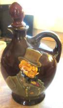 Royal Doulton Kingsware Dewars Wiskey Flask Jug Bottle Decanter with RARE Stopper. EC