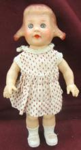 1955 HTF sun rubber girl with pigtails, 9