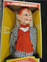 1968 Mortimer Snerd Ventriloquist Puppet Doll, 32