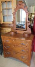 Exquisite 1800's Victorian Dresser with Hanky Boxes and Matching Mirror, All original, All Responsibility for Shipping will be the Successful Bidder. You must arrange for pickup directly or by a shipper within 7 days after sale.