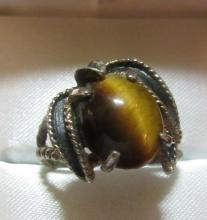Vintage Tiger Eye Ring, EC