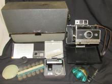 Vintage Early 1960's Polaroid Automatic 250 Land Camera, Case and Accessories, EC