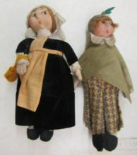 Two Antique Fabric Dolls, 9