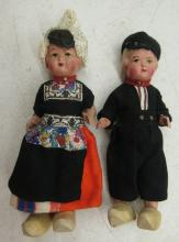 Two Vintage Holland Dolls with Wooden Shoes, 8