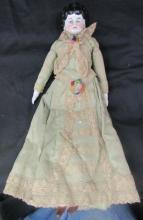 Antique Primitive Doll Porcelain Head Hands & Feet 1800's, 12