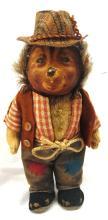 Steiff Mecki Hedgehog 7 inch doll, with Hat, VGC