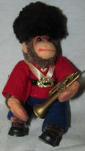 Steiff British Band Monkey with Horn, 5 1/2
